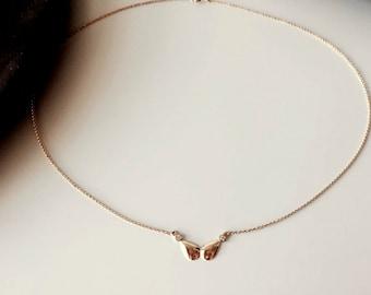 Diamond Pendant. Gold Diamond Necklace. Sweet 16. Bridesmaids Gift. Bat Mitzvah. Graduation Gift. 14K/18K Yellow Solid Gold