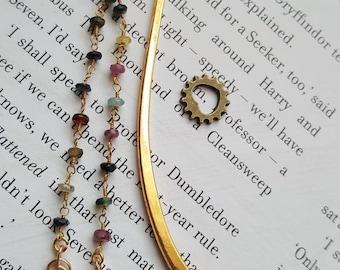 Dainty gold bead Bookmark