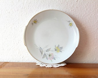 Plate gold fringe Flowers Z & Co Tirschenreuth Bavaria 7, Germany