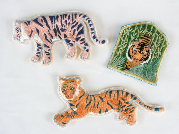 Hand Embroidered Jungle Tiger Patch