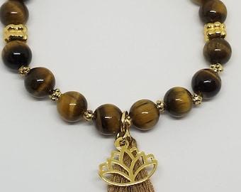 Tiger Eye Chakra Charm Bracelet