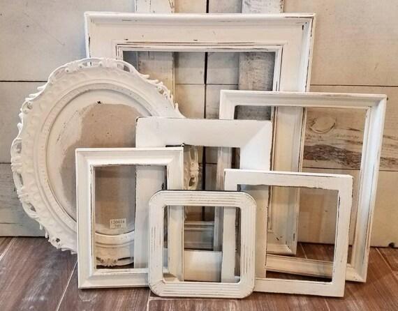 antique white picture frame set gallery wall wedding frames. Black Bedroom Furniture Sets. Home Design Ideas