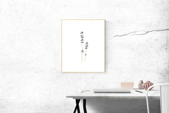 Watercolor Flower Digital Download Art Small Paintings Watercolor Print Instant Printable Art Purple Lavender Flower Minimalist Art Painting by Etsy