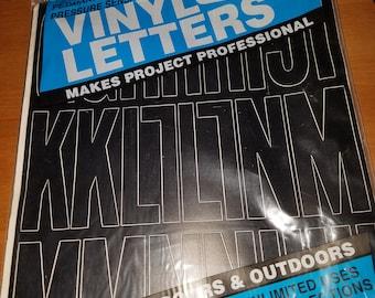 Black Vinyl Letters - Brand New in Package