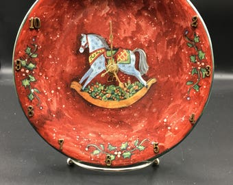 Christmas Rocking Horse 8 Inch Clock Plate !