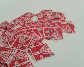 Red USA Airmail Stamps Used / Used Star Stamps/Bulk Stamps Red
