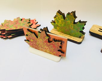 Canadian Business Card Holder | Maple Leaf