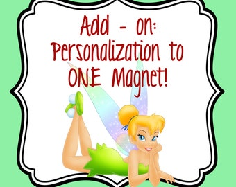 Adding personalization to your magnets!