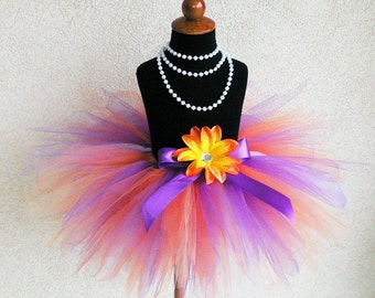 Summer Blooms Pixie - 11'' pixie tutu - Custom SEWN Tutu - Perfect for Portraits, Birthdays,and Halloween