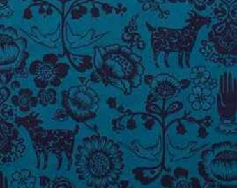 Animals Blue las Golondrinas Alexander Henry Fabric 1 yard