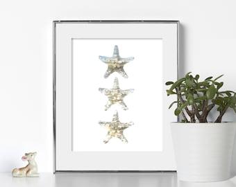 Starfish Print Digital Download Sea Poster Sea Shell Print Starfish Decor Starfish Printable Summer Poster Beach Printable Art Beach Print