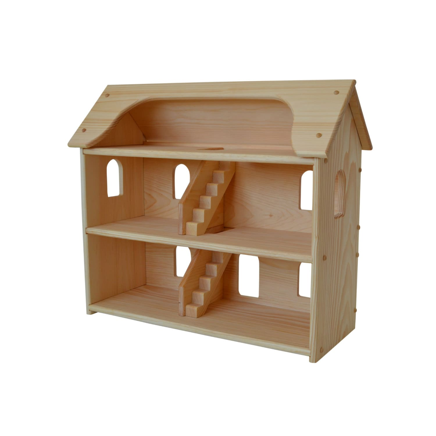 Handcrafted Natural Wooden Toy Dollhouse Waldorf