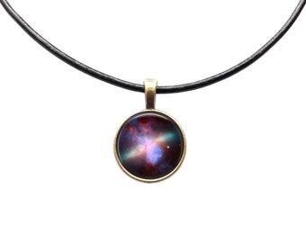 Galaxy jewelry Space fog necklace Nebula pendant
