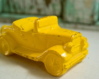Vintage Avon Yellow Car After Shave Decanter