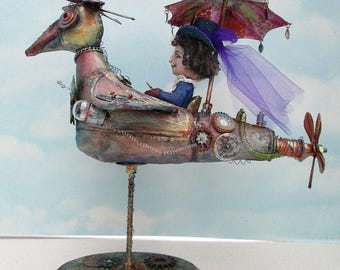 Doll Making Class  Rachel's Flying Machine, Steampunk Art Doll Project by Susan Barmore (PDF Download) - SE516E