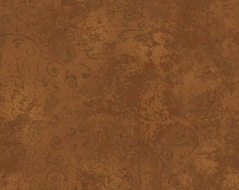 Quilting Temptations Brown Swirl Blender 22542-AT from Quilting Treasures by the yard