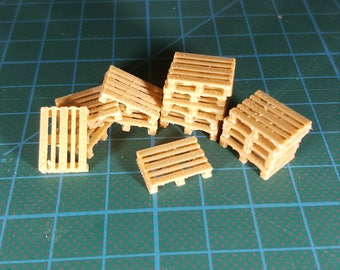 Pallet miniature for HO scale model railroad