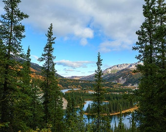 Lake Photography, Alaska Landscape, Denali National Park Landscape, Mountain Photography, Alaska, Escape