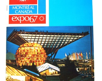 Montreal Expo 67 Album Souvenir Book Canadian Centennial Canada 150 Expo67 Pavilions Man And His World Place Des Nations United Nations