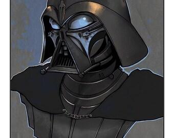 Star Wars - Darth Vader (Ralph McQuarrie concept design) 10' x 8' colour art print