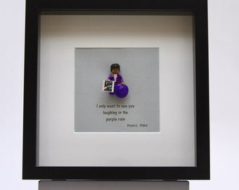 Prince custom mini Figure framed picture 25 by 25 cm