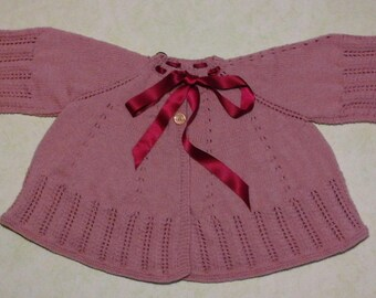 Coat Kimono, 1 year old color pink, unisex