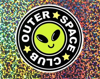 Outer Space Club Sticker
