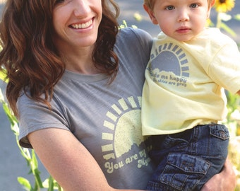 You Are My Sunshine. Mommy and Me Shirt Set. Mommy and Baby Set. Mommy and Me Clothing.