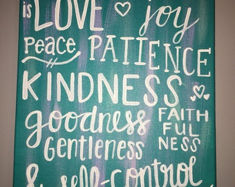 Fruit of the spirit Hand-painted Canvas Wall Art Home Decor Gift