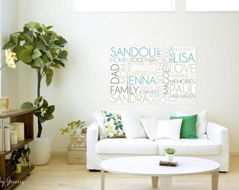 Personalized Family Name Subway Sign ELITE personalized Words and phrases wall art 30X40