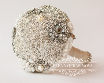 Diamante Brooch Bouquet - Bridal Bouquet - Wedding Bouquet