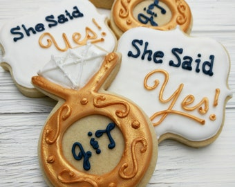 Engagement Party_One Dozen Wedding Cookies_Rings
