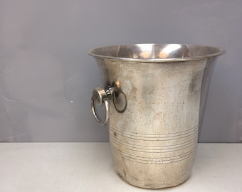 4 Available Matching French Bistro Silver Plated Champagne Cooler Ice Buckets! Perfect wedding decor!