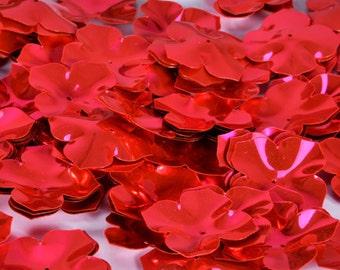 25 pcs flower sequins.......Brilliant Pnk Color/KBBF451