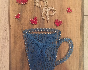 For the love of coffee string art