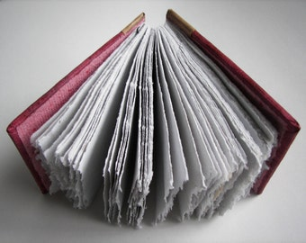 Handmade Paper Journal Burgundy Coptic Stitched