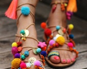"""Tie up gladiator sandals """"Penny Lane''  (handmade to order)"""