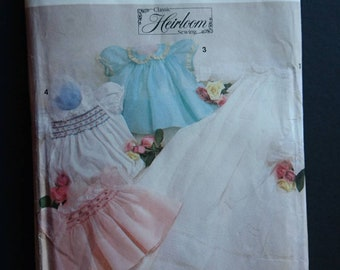 Simplicity 7705 Oliver Goodin UNCUT Heirloom sewing pattern- girl's dress christening - baby outfit - think dimity batiste or voile