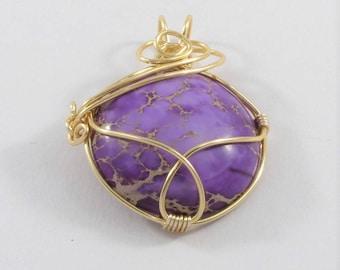 Purple Jasper Pendant