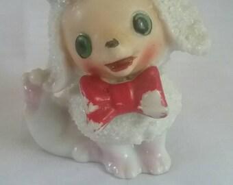 Vintage Poodle Figurine, Japan