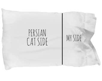 Persian Cat Pillowcase - Funny Persian Cat Pillow Case - Persian Cat Gifts - Persian Cat Side My Side