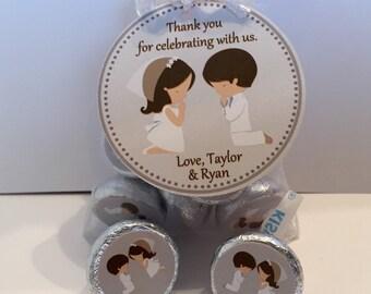 Twins First Communion Favor Bag Set - First Communion Favors - First Communion Twin Favors - 1st Communion Favor