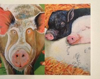 PRINT-Pig Collage'