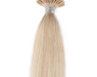 22inches 100grs,100s,Stick (I) Tip Human Hair Extensions  60 White Blonde