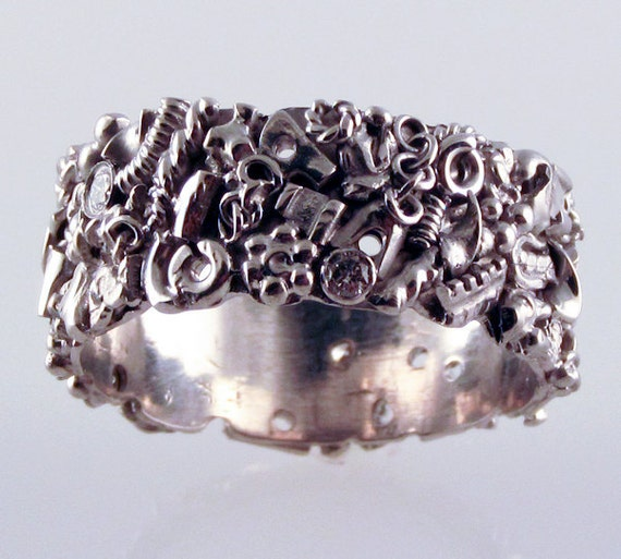 Men's Steampunk Wedding Band