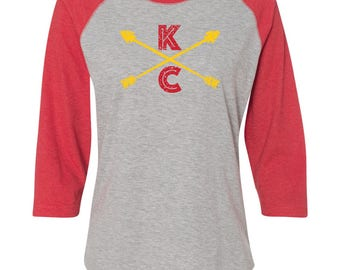 Kansas City Chiefs Shirt, KC Chiefs, KC Chiefs Shirt, Chiefs Shirt, KC Football, Kansas City Chiefs Shirt, Kansas City TShirt, Raglan
