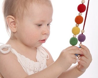 NORDIC RAINBOW Mommy Necklace / Teething necklace