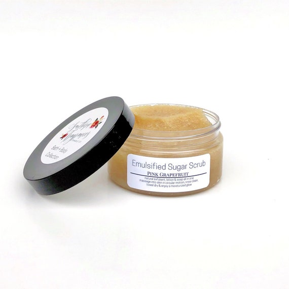 Emuslified Sugar Scrub | Pink Grapefruit | Natural Exfoliant | Moisturizer | Essential Oils | Natural Soap