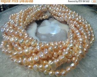 50% Mega Sale 7mm Natural Peach Freshwater Pearls