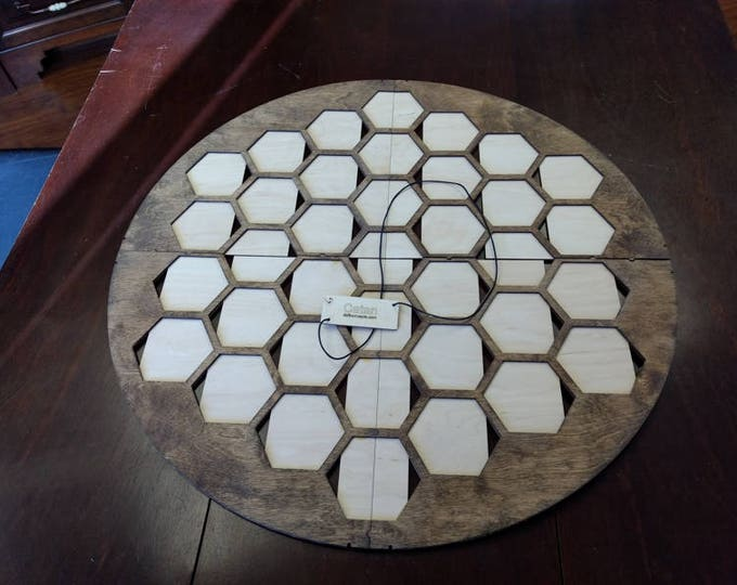 Walnut Stained Catan 37 Tile Frame for 4 player Seafarers